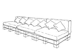 Sofa Drawing by Ghadban De Pascual Architects Pallet Sofa