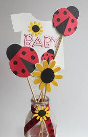 lady bug baby shower centerpiece picks ladybug party ladybug