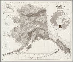 A Map Of Alaska by Landform Map Of Alaska David Rumsey Historical Map Collection