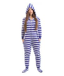 nautical footed pajama suit funzee