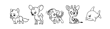 easy outlines of animals how to draw simple cute animals in chibi style with videos