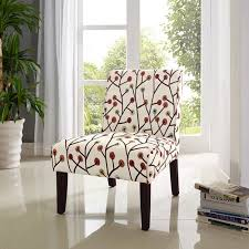 Armless Accent Chair Dorel Living Armless Accent Chair Floral Pattern Walmart