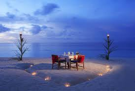 night beach dinner candles ocean romance sunset beach romantic
