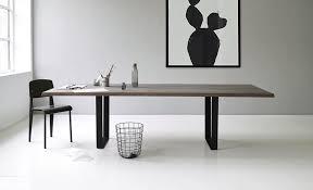 Contemporary Dining Table Contemporary Dining Table Oak Walnut Solid Wood Lowlight