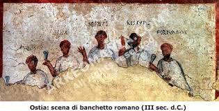 banchetti antica roma alimentazione dei romani la cucina romana il banchetto a roma