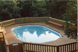 neshanic deck with built in benches traditional pool newark