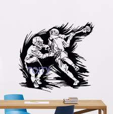 compare prices on sports stickers lacrosse online shopping buy lacrosse players wall decal sport home gym vinyl sticker art decor mural h57 x w62cm