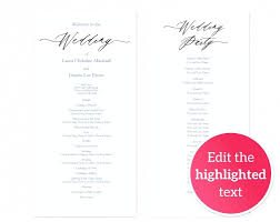 program for wedding ceremony template template wedding ceremony booklet template programs a templates