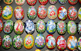 easter eggs for sale painted beautiful and colorful easter eggs stock editorial