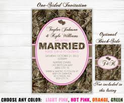 camouflage wedding invitations camo wedding invitation camouflage orange pink purple