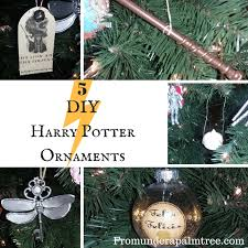 5 diy harry potter ornaments from a palm tree