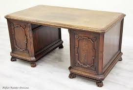 Antiker Schreibtisch Angebot Antiker Eiche Schreibtisch Leder Alt Massiv In 32758