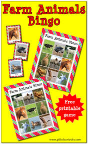 thanksgiving bingo free printable cards farm animals bingo free printable gift of curiosity