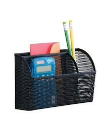 Magnetic Desk Organizer Neat Mesh Magnet Organizer 3 Compartments Large Black By