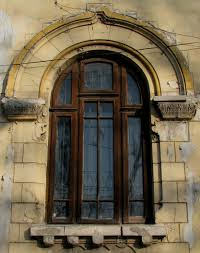 marvelous round arched windows trims with brown distressed windows