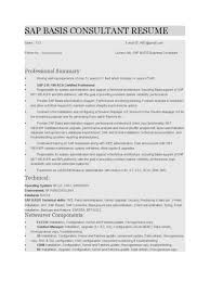 Sap Sd Support Consultant Resume Cover Letter Sap Basis Resume Sap Basis Resume 4 Years Sap Basis