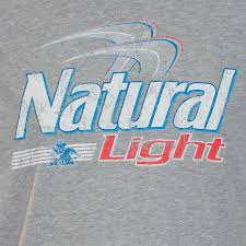 natural light energy systems natural light grey beer logo t shirt