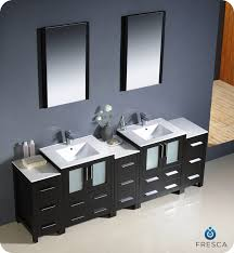 fresca torino 84 espresso modern sink bathroom vanity w 3