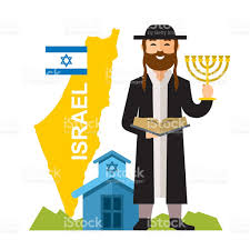 vector israel country concept flat style colorful cartoon