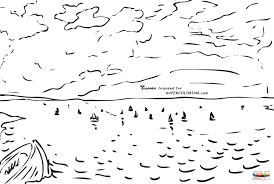the sea from the heights of dieppe by eugene delacroix coloring