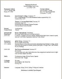 100 current college student resume resume template for college