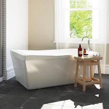 Freestanding Bath Tub Shop Ove Decors Morgan 60 In White Acrylic Freestanding Bathtub