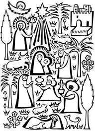 nativity scene coloring sunday craft churches