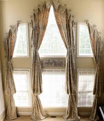 Windows Curtains Curtain Ideas Three Windows Row 1000 Ideas About Large Window