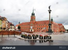 warsaw poland old town famous royal stock photo 72671932