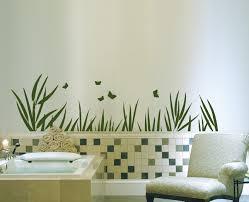 wandtattoos badezimmer wandtattoo wandaufkleber badezimmer bad blume blätter gras