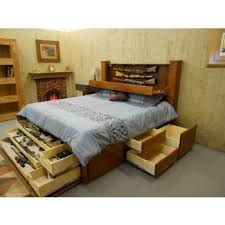 King Size Platform Bed Plans With Drawers by Hidden Gun Storage Solutions That Are Cool And Practical King