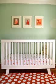 Babyletto Hudson 3 In 1 Convertible Crib by L U0027obsession Du Jour Henry U0027s Orange U0026 Mint Nursery