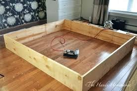 king size bed frame with drawers plans king size storage platform