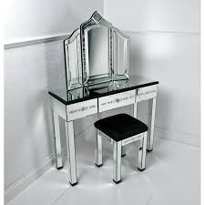 Glass Top Table Corner Mirrored Vanity Table Pier One With Drawer And Black Glass