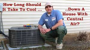 how long should it take to cool down my house with central air