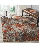 Grey And Orange Area Rug Check Out These Bargains On Safavieh Monaco Abstract Watercolor