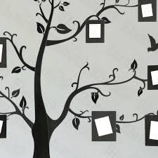 home design white family tree wall decal landscape