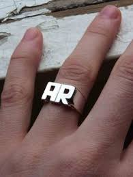 Initials Ring Stackable Initial Ring Urbanoutfitters Jewellery Pinterest