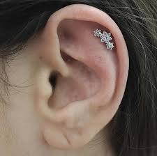 diamond helix stud diamond flower garland threaded stud helix helix jewelry