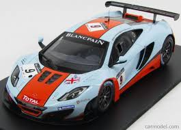 gulf racing truescale tsm131814r scale 1 18 mclaren mp4 12c gt3 team gt gulf