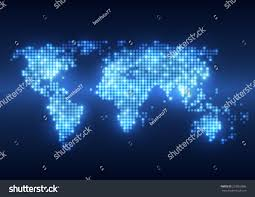 digital backgrounds abstract technology digital backgrounds world map stock vector