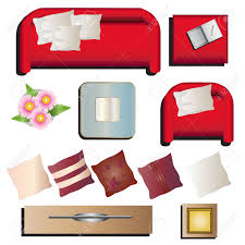 living room furniture view set 10 for interior vector