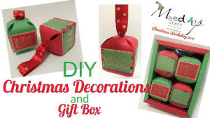diy christmas decorations and gift box video tutorial youtube