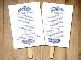 nautical wedding programs wedding fan program template printable from paintthedaydesigns