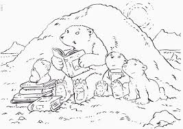 little polar bear book coloring page free download