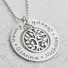 necklace for mothers family tree of necklace s jewellery keepsake