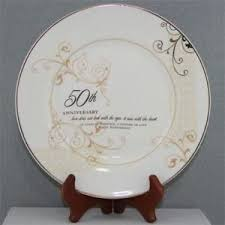 50th anniversary plate personalized 50th anniversary plate w stand tabletop accents personalized