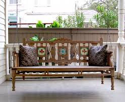 Most Comfortable Porch Swing Superb Wooden Porch Swings In Porch Farmhouse With Swinging Day