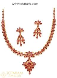 ruby necklace earrings images 22k gold ruby necklace drop earrings set jpg
