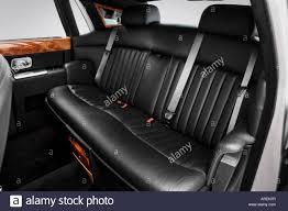 rolls royce rear 2005 rolls royce phantom in silver rear seats stock photo
